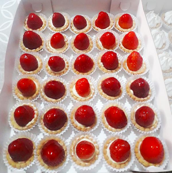 Mini tartaletas de fresa
