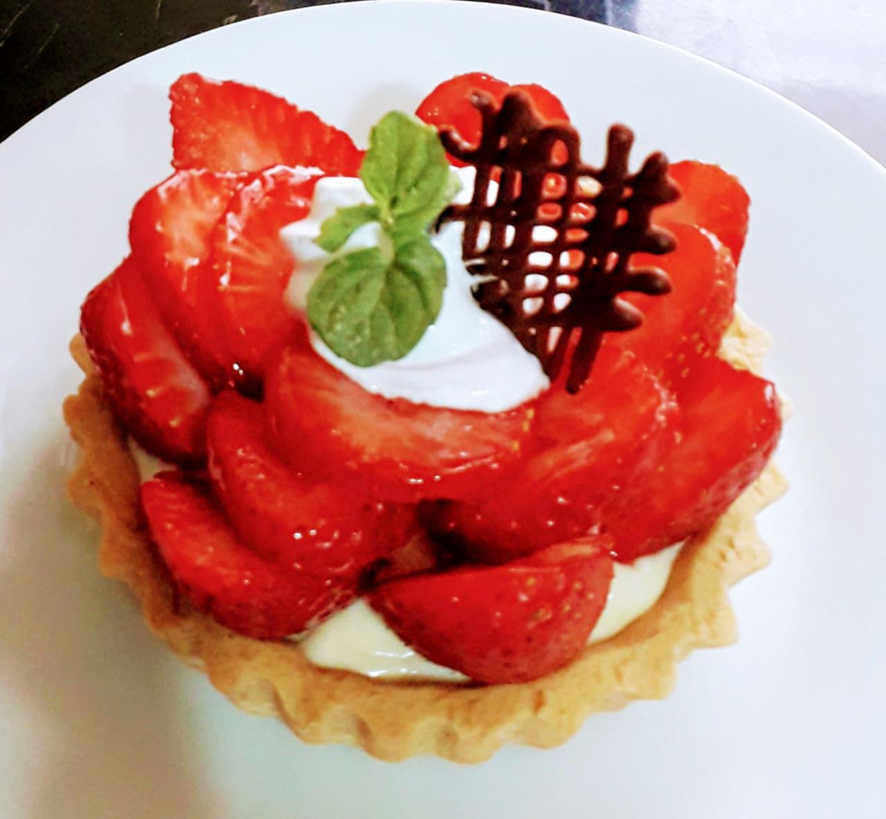 Tartaleta de fresa individual